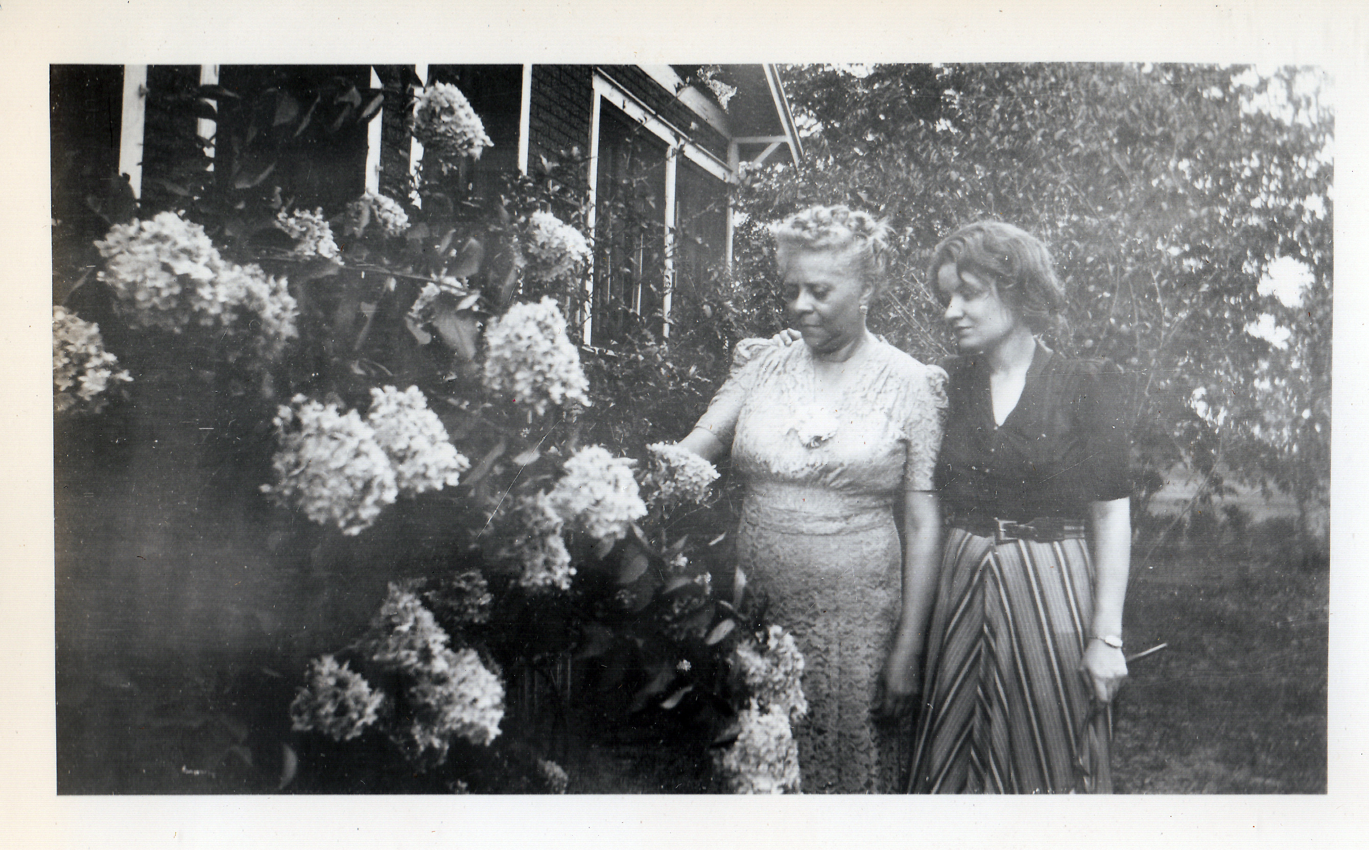 Florence Price and Daughter Florence Robinson at Summer Home, ca. 1950.